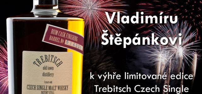 Vyhlášení výherce soutěže o láhev české whisky Trebitsch
